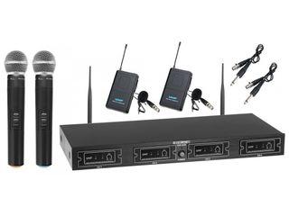 Mcgrey uhf-2v2i quad wireless microphone set