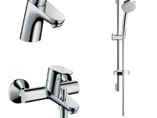 Душевой набор 3 в 1 Hansgrohe Focus E2 для ванны (31730000 + 31940000 + 27717000)