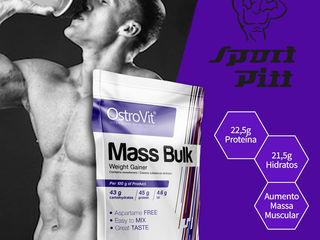 Гейнер Mass Bulk-1kg-45% белка и 0% сахара