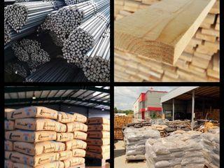 Ciment, nisip, pietris, lemn, armatura