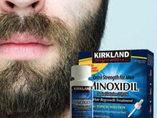 Minoxidil Kirkland & Rogaine pentru creșterea barbii
