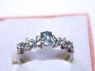 Кольцо серебро 925 с натуральным топазом