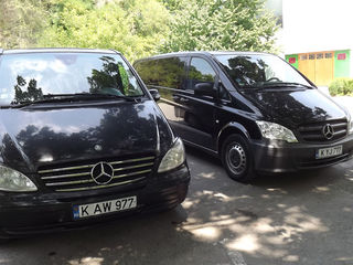 Mini-vanuri Mercedes Vito, Viano 4,5,6,7,8 locuri ! Viptrans. Transport intern si international