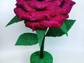 большие цветы из фоамирана/ручная работа