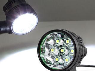 Мощный налобный и велосипедный фонарь
