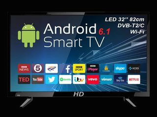 PROMOTIE DE PASTE: TV HD 32'' LED Smart-TV DVB-T2/C 200Hz 3399 lei + airmaus cadou