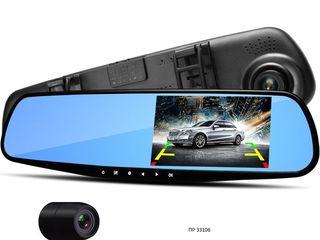 Видео регистратор зеркало с камерой заднего вида 4,3 inch