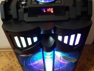 Boxa activa mare cu acumulator si microfoane автономная акустика euromax eu-1206 usb/fm/bluetooth