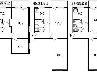 Se vinde apartament cu 2 odai fara reparatzie urgent !!!