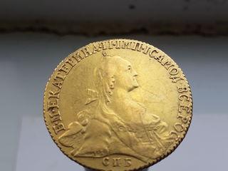 Монета 10 рублей 1768 Екатерина2