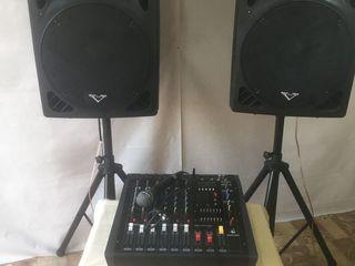 Aparatura mixer-amplificator ,, yamaha'' 2000 w ,usb, bluetooh, boxe ,cabluri ,8600 lei ! nou!!!