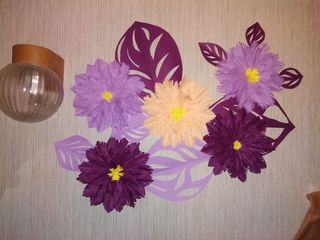 Flori din hîrtie, lucrări handmade