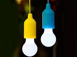 Подвесная лампочка на батарейках