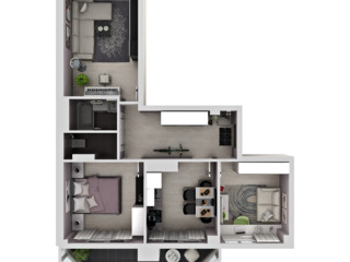Apartament 3 odai - varianta alba