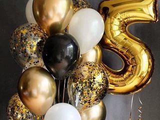 Decor evenimente Baner Baloane cu heliu Cifre Гелиевые шары