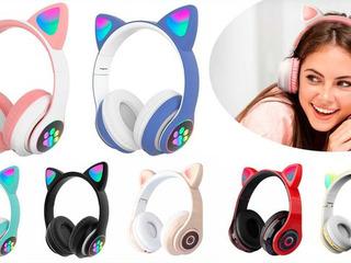 Беспроводные наушники Cat Ear LED подсветка Bluetooth + ДОСТАВКА