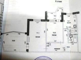 Бендеры, Пентагон, большая 2-комнатная квартира, 8/9 эт.