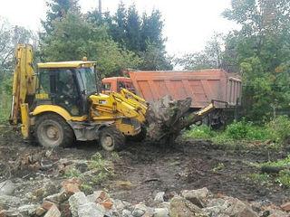 Очистка участков Корчевание выкорчевка пней деревьев садов техникой снос любых строений сооружений