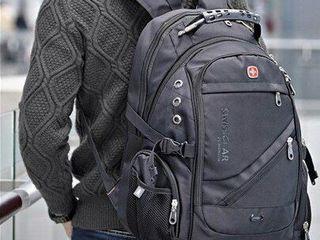 Рюкзак швейцарский Swiss Gear 8810 + Power Bank и дождевик