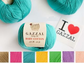 Fire de ata de tricotat gazzal - пряжа gazzal
