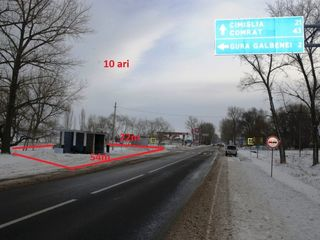 De vînzare teren S=10 ari, pe traseu Chisinau-Hincesti-Cimslia