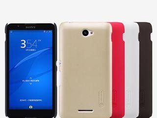 Sony Xperia E4 чехол Nillkin Frosted Shield + защитная плёнка