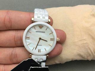 Armani white-ceramica-pearl Lady!!!