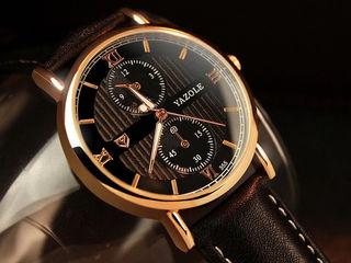 Кварцевые классические часы yazole + батарейка в подарок
