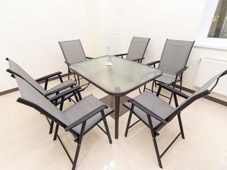 Set masa+scaune pentru terasa. Centrul de mobila Elegance.