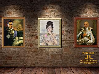 Foto portret, colaj, fotografie, pictură modulară, arta pop