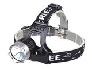 Мощный налобный аккумуляторный фонарь на светодиоде Cree XM-L T6.
