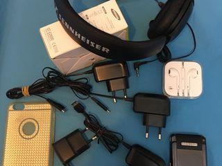 Новые наушники Applе, оригинал - 350л. Новый силиконовый чехол для айфон 6s+,золотой - 90л. Наушники