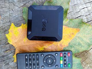 Приставка на Android 10,чтобы ваш ТВ стал умнее, с годовой подпиской на большое количество каналов!