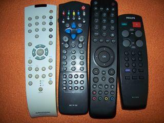 Пульты на TV,DVD.VHS б.у. оригинальные.