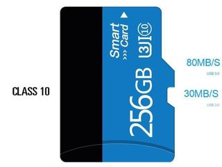 micro SD 256 GB(Noi) cu adaptere,micro sd карта 256 гигабайт.Livrare.