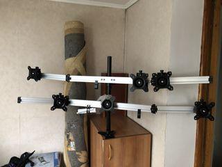 Кронштейн на 6 мониторов на  max 24 дюйма