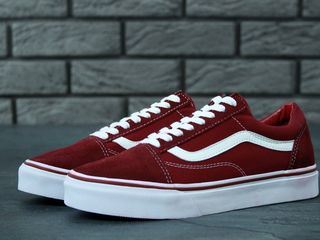 Vans Old Skool Bordo & White Unisex 2