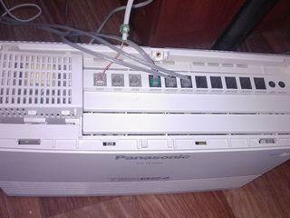 Мини-АТС Panasonic KX-TES824ua + системный телефон  KX-T7735(б/у) 2500 lei