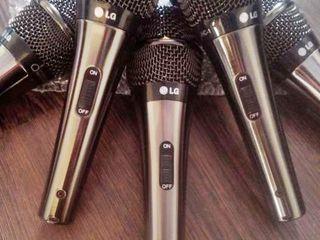 микрофон LG metall с 5 метровым кабелем для караоке