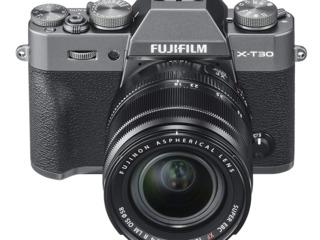 Fujifilm X-T30 Mirrorless Digital Camera, Charcoal Silver with Fujinon XF18-55mm F2.8-4 R LM Optical