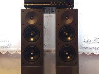Продам недорого мощный ресивер-усилитель harman/kardon и комплект мощной напольной акустики JAMO.