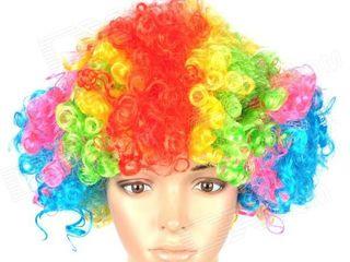 Парик клоуна разноцветный, радужный