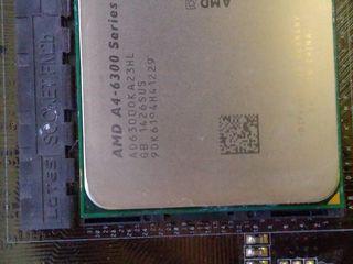 AMD A4-6300 + ddr3 1600 2*2GB + FM2A58M-VG3+ R2.0