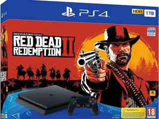 PS4 Slim 1tb + Red Dead Redemption 2 (новые, гарантия) Доставка бесплатно!