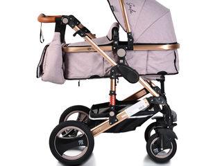 Стильные коляски Gala по промо цене 3180. bebelush.Бесплатная доставка по Кишинёву