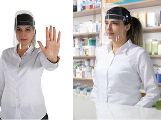 Защитные прозрачные маски для продавцов, кассиров, операторов