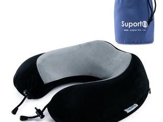 Perna de calatorie pentru gat Ortopedica cu spuma de memorie - Medie