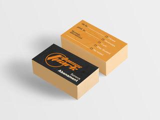 Печать визиток. Цена указана вместе с дизайном