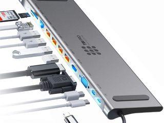 12-in-1 Type C Hub  - переходник - адаптер -  Профессиональный Hub для мощной, современной техники.