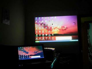 Проекционный экран, видепроетор под ключ на стену и потолок